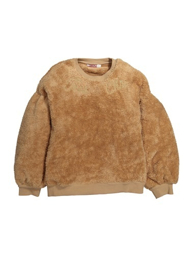 Zeyland Nakışlı Peluş Sweatshirt (5-12yaş) Nakışlı Peluş Sweatshirt (5-12yaş) Bej